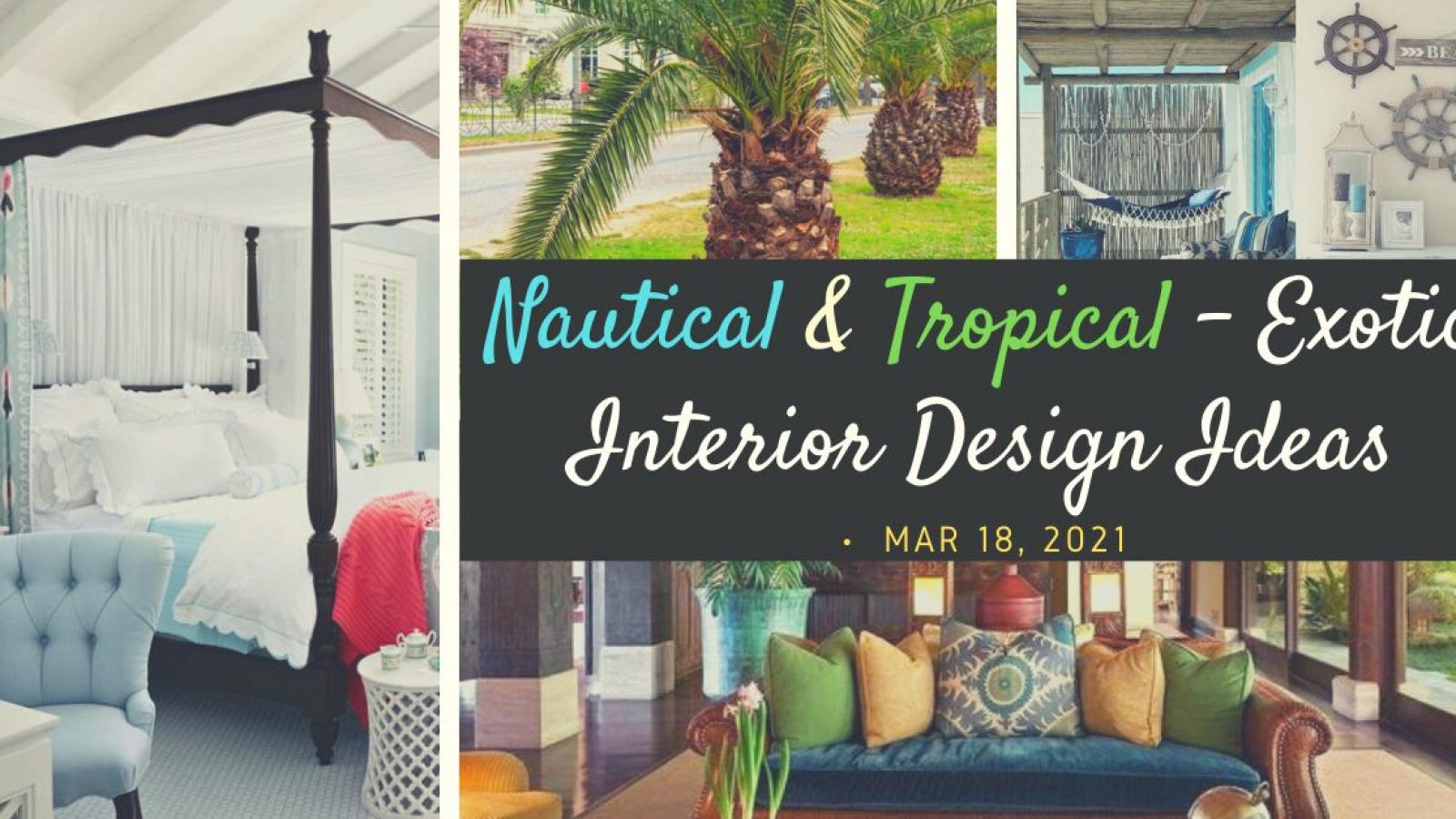 nautical tropical interior designs